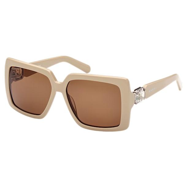 MIL002 zonnebril, Square, Bruin - Swarovski, 5627870