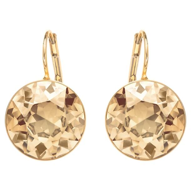 Brincos para orelhas furadas Bella, dourados, banhados a dourado - Swarovski, 901640