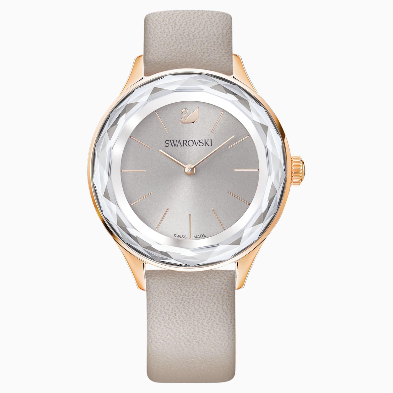 bracelet cuir gris montre