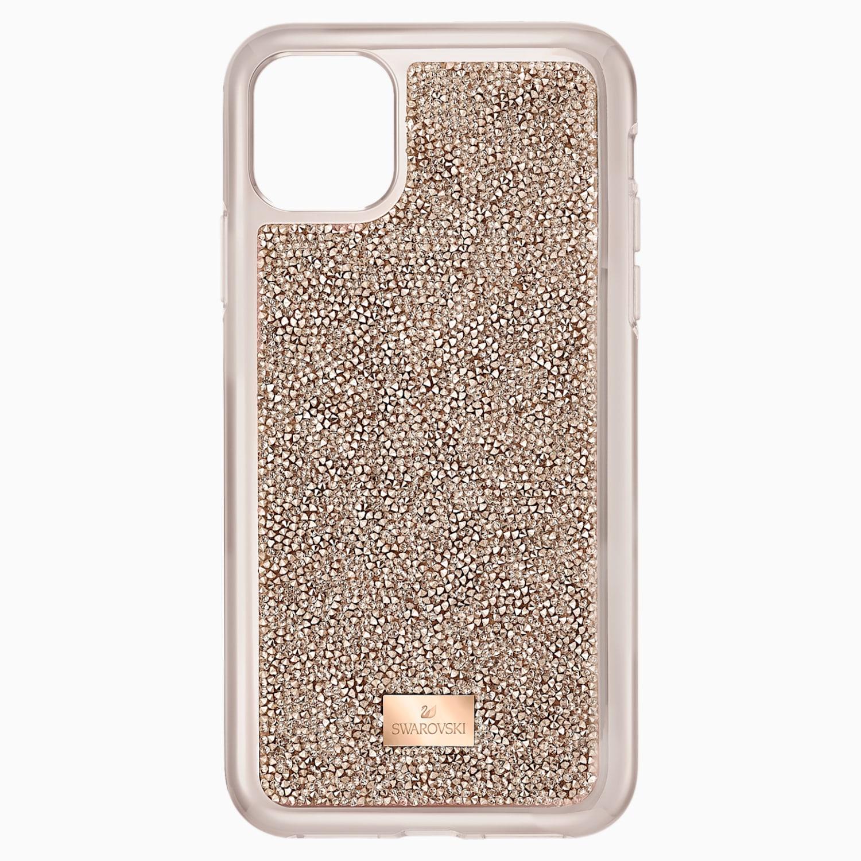 coque rigide pour smartphone avec cadre amortisseur glam rock iphone® 11 pro or rose swarovski 5515624