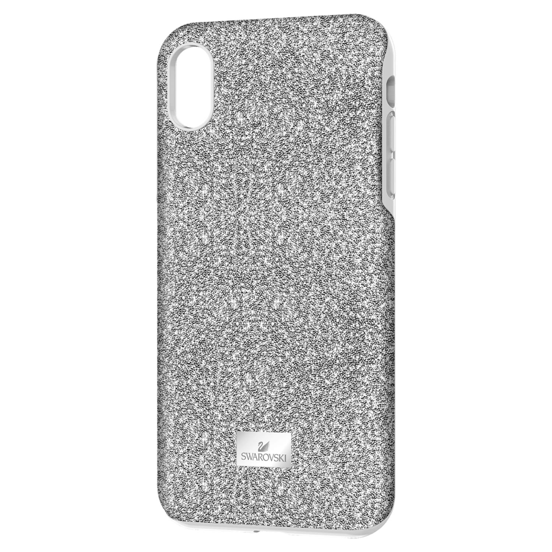 High Smartphone Case with Bumper, iPhone® XR, Silver tone