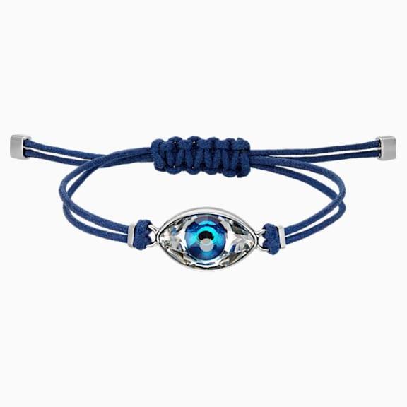 bracelet swarovski boules bleues