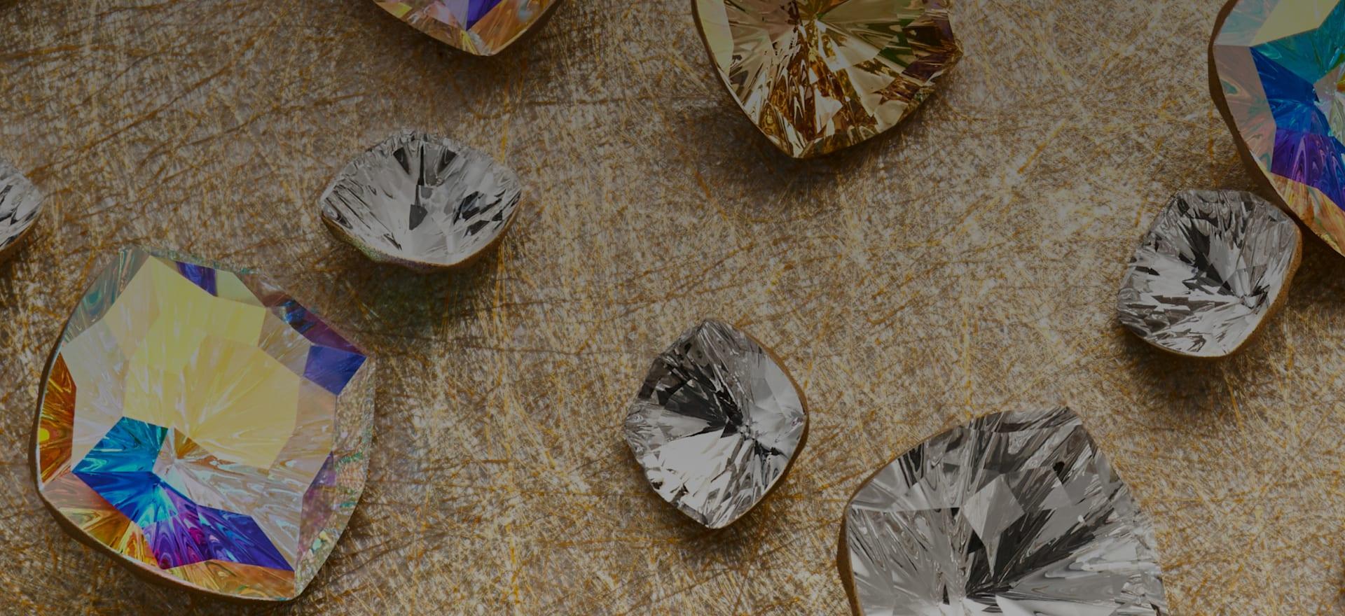 Swarovski kristályok - sima hátuljak, csillámhatás